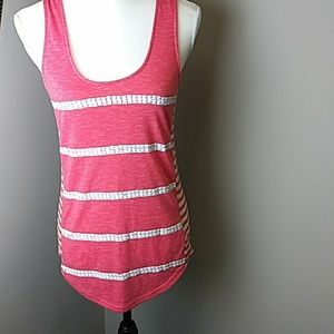 Miss me tank top with netting back